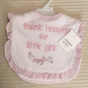 Crown and Ivy Bib Set Infant Girls